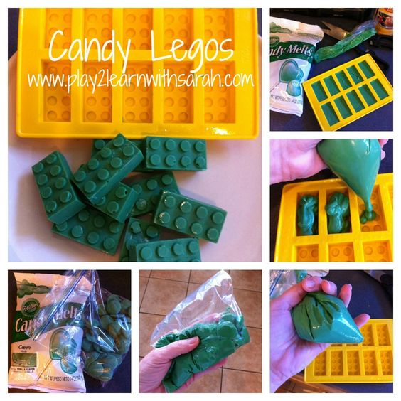 How to Make Candy Legos http://play2learnwithsarah.com/kids-in-the-kitchen-lego-cake/  Wedding favor???