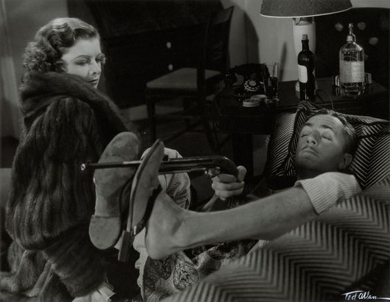 One of the most beloved couples to grace the big screen, William Powell and Myrna Loy.  Their comedic murder mysteries, The Thin Man series, are absolute classics.: