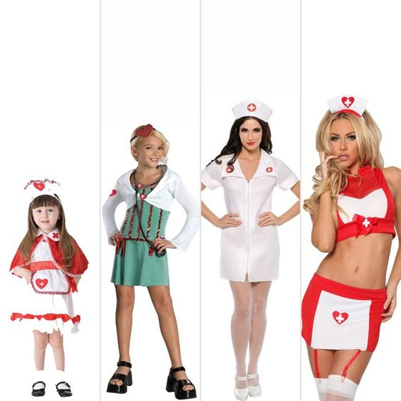 Pin for Later: The Shocking Evolution of Female Halloween Costumes Doctor or Nurse Source: Costume Hub, eBay,Party City, 3Wishes