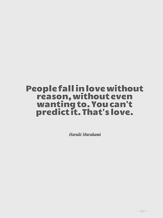 I've said it once, i've said it again...you don't choose love...it just happens...and then you become captive to it...like a bad habit you cant break...j