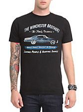 Supernatural Business Ad T-Shirt, BLACK
