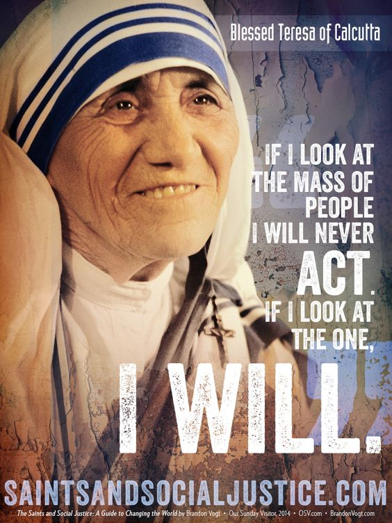 Essay on how mother teresa change your life