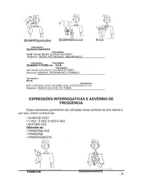 Apostila De Libras Basico Libra Adverbios De Frequencia
