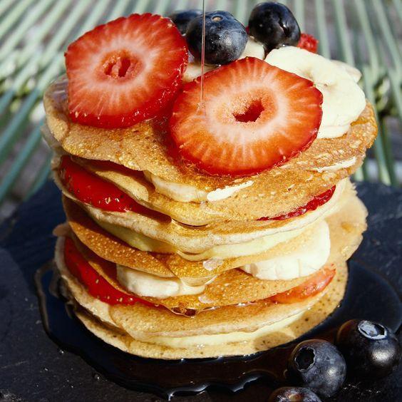 fruity quinoa pancakes