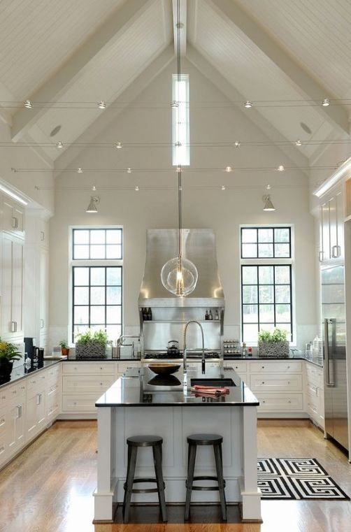 50 Vaulted Ceiling Image Ideas Make Room Spacious Casanesia Vaultedceilingdeco Vaulted Ceiling Kitchen Vaulted Ceiling Lighting Kitchen With High Ceilings
