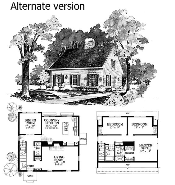 Plan 81045w expandable cape with two options house for Small expandable house plans