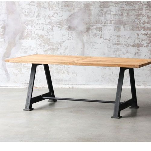 Tables industrielles table industrielle m tal et bois for Table industrielle