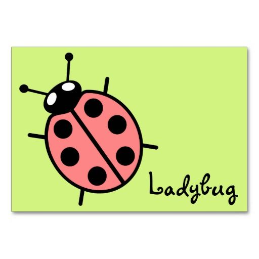Red Vector Ladybug (Green Background) Table Card