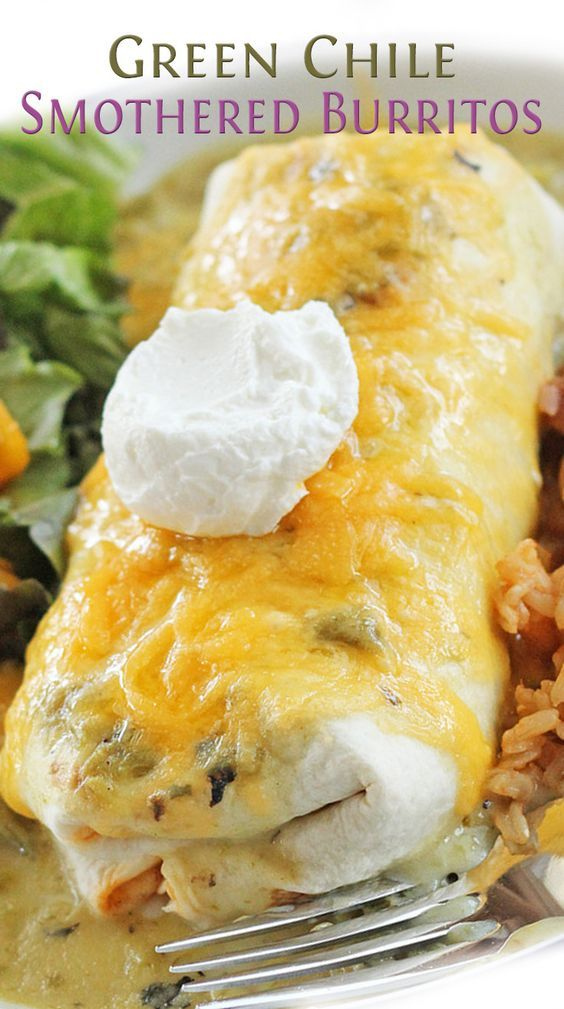 Green Chile Smothered Burritos