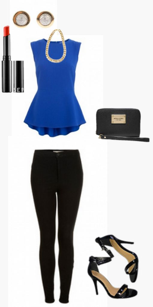 A peplum top is so chic right now! Styled by Lauren for a girls night out on  WiShi.me (where friends style friends for upcoming events) Follow our styling boards for all the inspiration you need for any event!