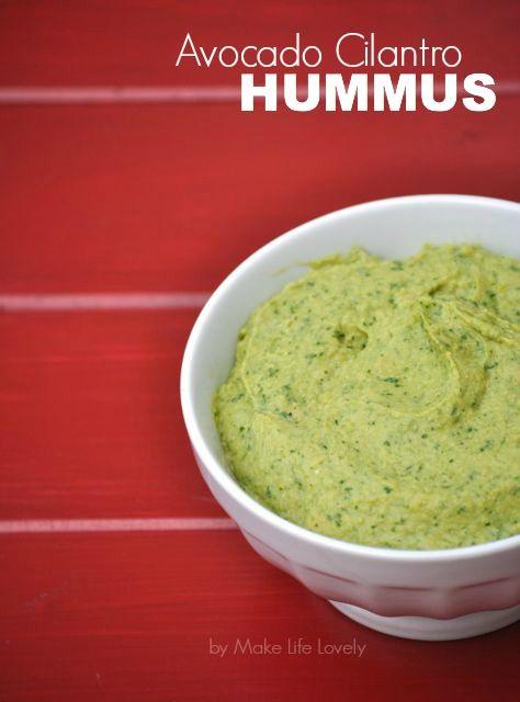 Avocado Cilantro Hummus Recipe