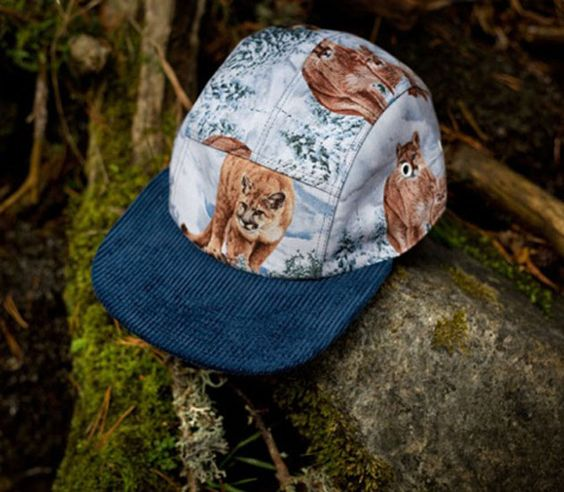 5 panel caps Moupia-The Wild Animals (Fall-Winter 2012) // Indie Clothing Brands & UK Streetwear || AcquireGarms.com