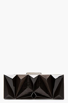 Givenchy Black Leather Prism Minaudiere for women   SSENSE