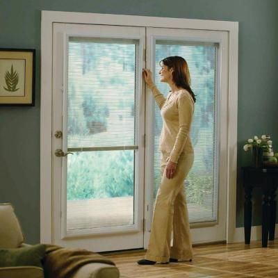 ODL 20 in. x 64 in. Add-On Enclosed Aluminum Blinds in White for Steel & Fiberglass Doors with Raised Frame Around Glass - BWM206401 at The Home Depot
