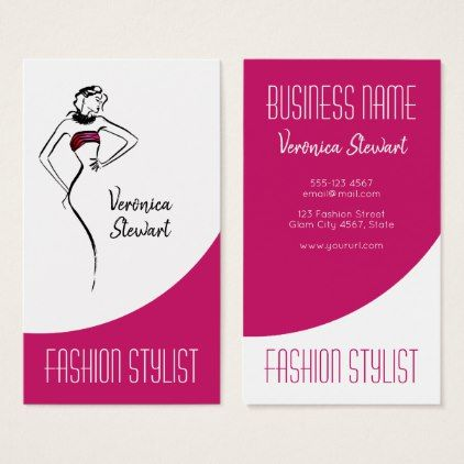 Fashion Business Woman Illustration Business Card Zazzle Com Illustration Business Cards Woman Illustration Stylist Business Cards