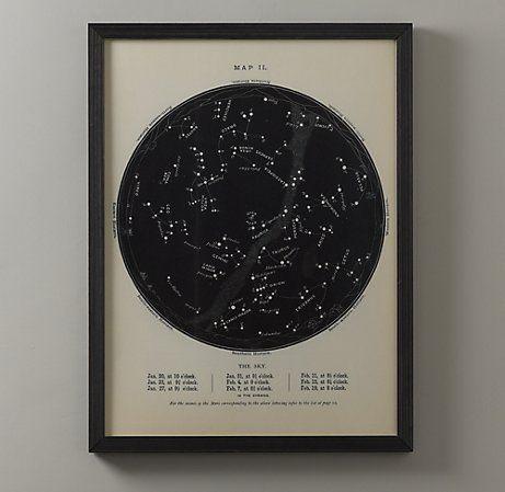 night sky map.