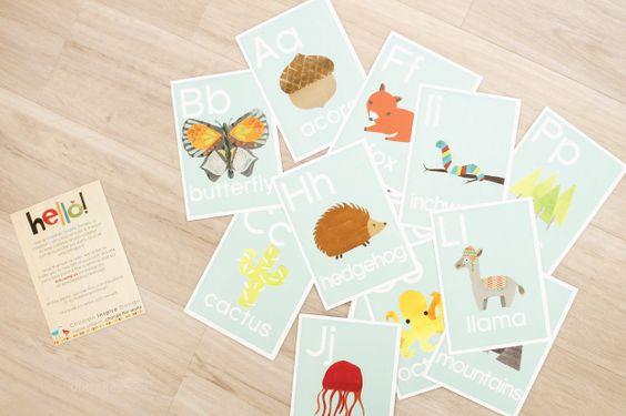 My new favorite alphabet cards by Children Inspire Design.