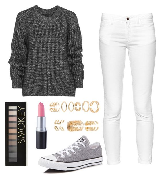 """""""Adorable Cozy Outfit"""" by trendy-and-chic ❤ liked on Polyvore featuring Belstaff, French Connection, Converse and Forever 21"""