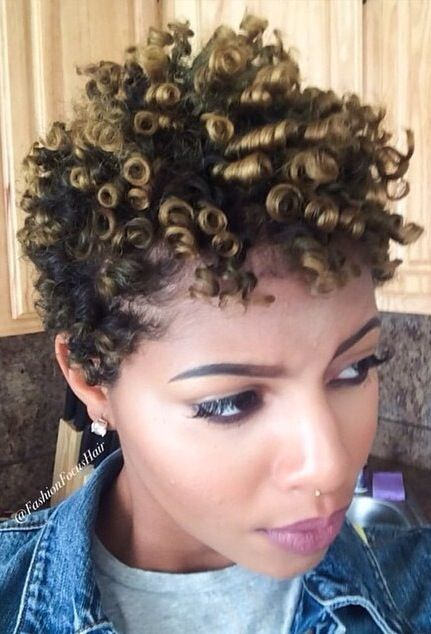 How To Use Perm Rods On Short Natural C Hair