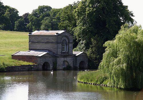 Kedleston (6)    The Fishing Room and Boat House at Kedleston Hall