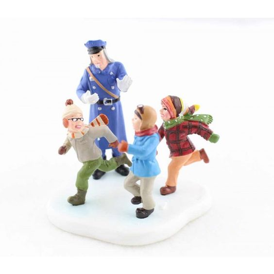 Department 56 A Christmas Story Village Policeman with Boys 809436