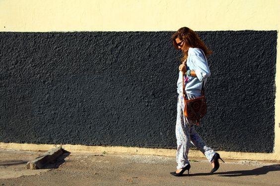 Fashion bakchic, printed pants