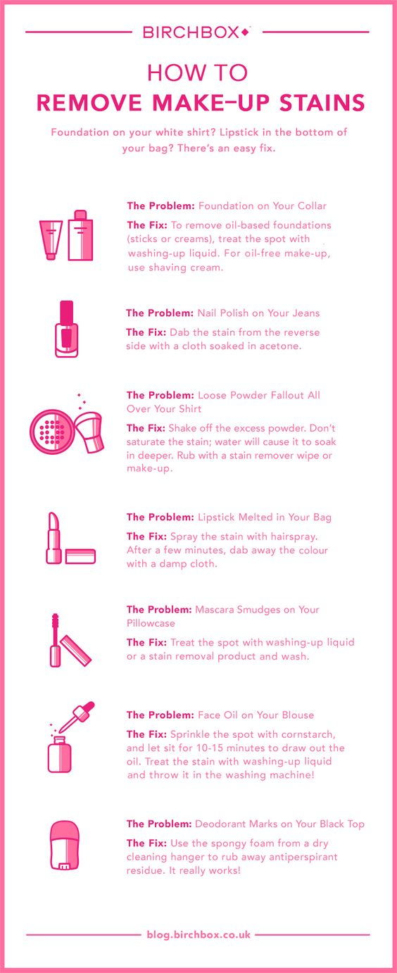 How To: Get Rid Of Every Type Of Make-Up Stain - Birchbox UK Blog