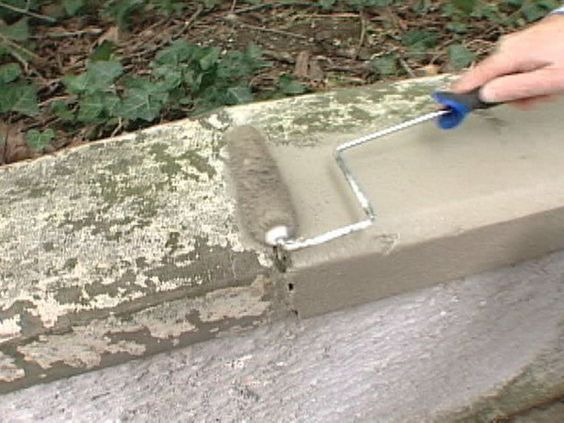 How to patch masonry walls patio concrete patios and - Concrete block painting ideas ...