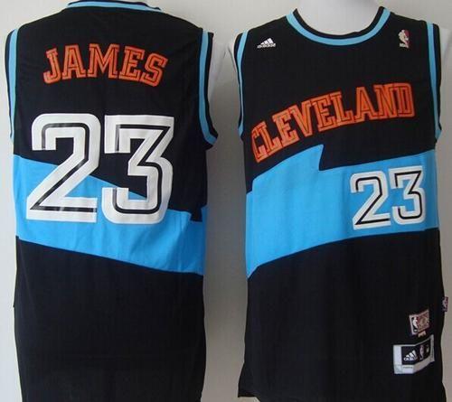 Cavaliers #23 LeBron James Black ABA Hardwood Classic Stitched NBA