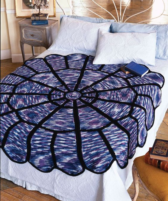 Stained Glass Afghan Free Crochet Pattern from Red Heart Yarns