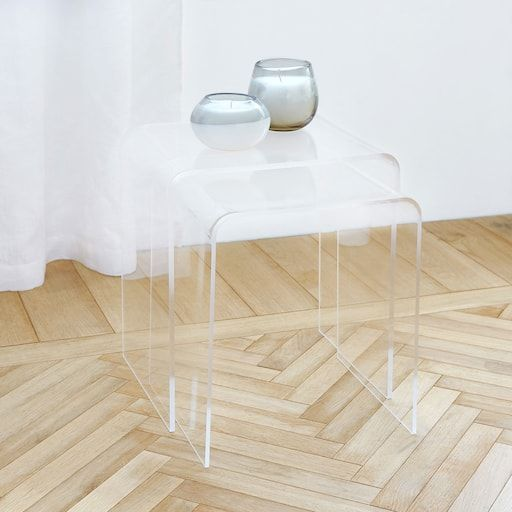 3 Plexiglas Bijzettafeltjes.Afbeelding Van Het Product Methacrylaat Bijzettafeltje Set Van 2