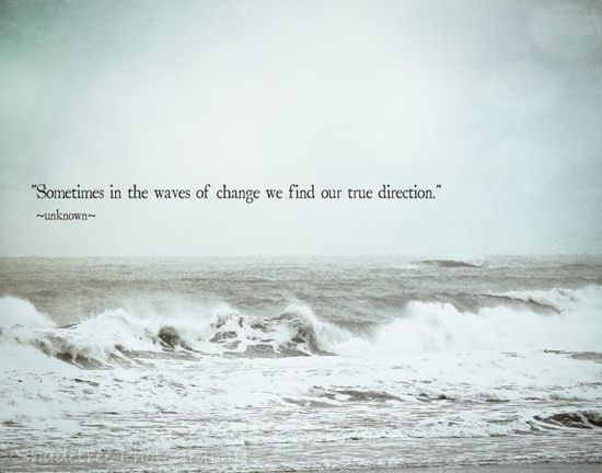 Find your true direction...good for a tattoo, with a small wave at the end. My heart belongs to the ocean