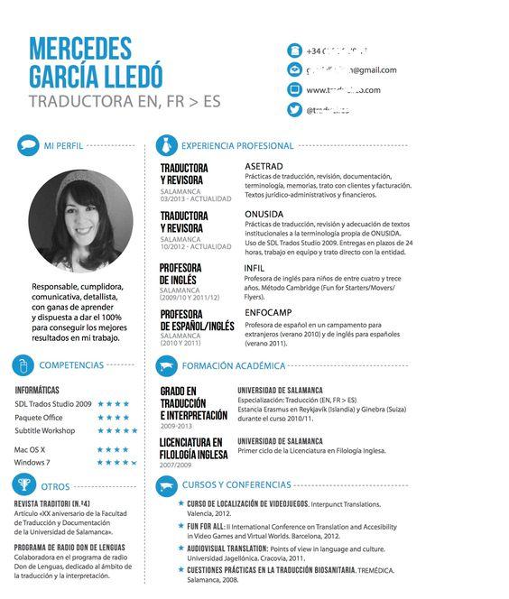 Propuesta para tu CV Ideal u2026 Pinteresu2026 - resume vs curriculum vitae