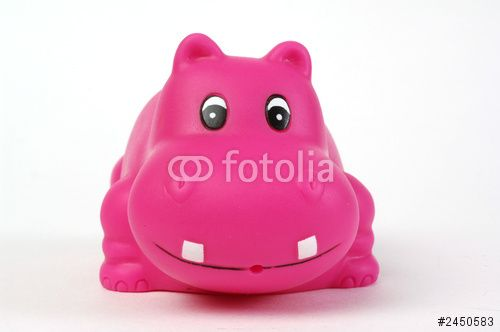 pink plastic hippopotamus
