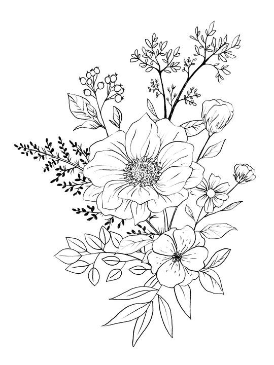 Pin By Maegan Gill On Arte In 2021 Black And White Flower Tattoo Flower Drawing Flower Sketches