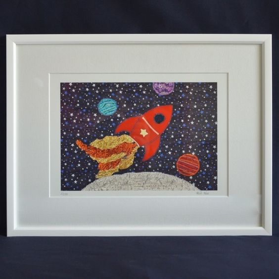 Space ship Rocket picture £25.00