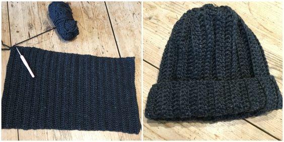 Crochet Club - the Man Hat on the LoveCrochet blog