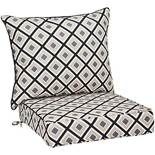 Amazonbasics Deep Seat Patio Cushion Black Geo Amazonbasics Https Www Amazon Com Dp B07jq4q9s1 Re Outdoor Chair Cushions Deep Seating Outdoor Couch Cushions