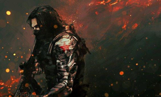 Never got the name of the artist but love this winter soldier piece!