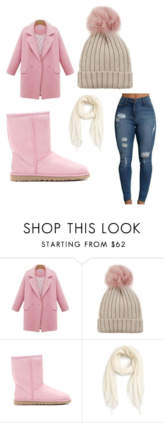 """""""Not playin w/ this weather ☃️⛄️"""" by supremerosee ❤ liked on Polyvore featuring Jocelyn, UGG Australia and Nordstrom"""