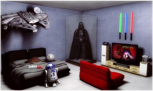 Man Cave War Room : Star wars bedroom and geek man cave on pinterest