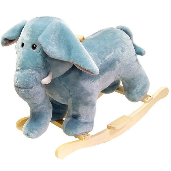 Found it at Wayfair - Plush Elephant Rocking Animal