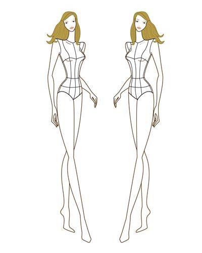 Female fashion figure croqui 004 sketch pinterest mote female fashion figure croqui 004 pronofoot35fo Choice Image
