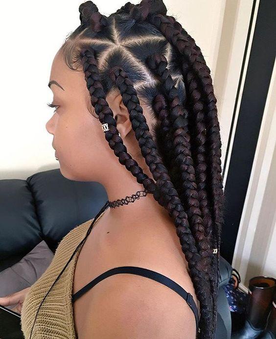 Chunky Braids braided hairstyles for black women