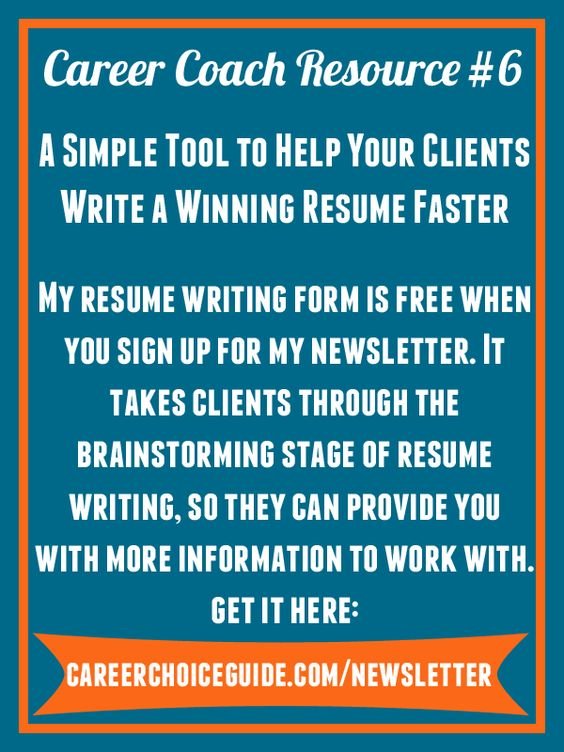 Get a free resume writing form and mini-guide when you sign up for - free resume writer