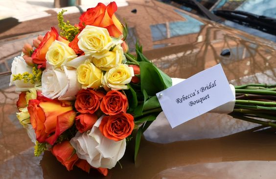 Today's pretty bridal bouquet for Rebecca getting #married in #lambertville #nj ~ we love doing #wedding #flowers - www.perfectweddingflowers.com