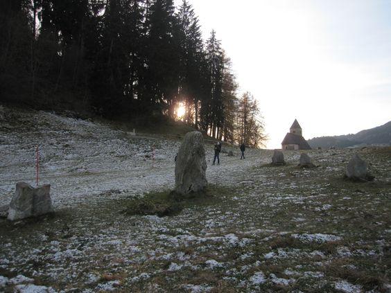 Menhire in Falera Kanton Graubünden in Switzerland