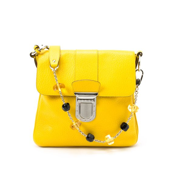 #Dolce & #Gabbana yellow leather shoulder bag. Available at lxrco.com for $499
