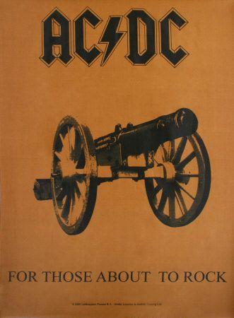 AC/DC Póster en tela