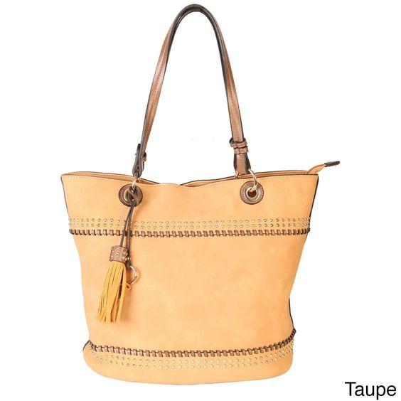 Rimen & Co. Women's PU Studded Design Handbag